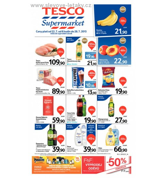 leták Tesco supermarkety od 22.7.2015 strana 1