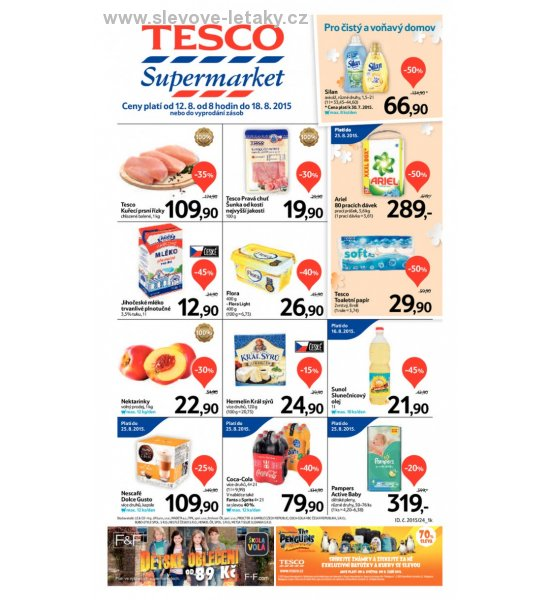 leták Tesco supermarkety od 12.08.2015 strana 1